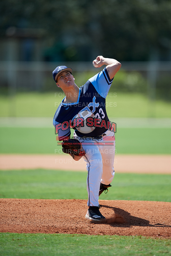 Blake Bennett during the WWBA World Championship at the Roger Dean Complex on October 18, 2018 in Jupiter, Florida.  Blake Bennett is a left handed pitcher from Haleyville, Alabama who attends Haleyville High School and is committed to Alabama.  (Mike Janes/Four Seam Images)