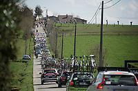 peloton up the Kanarieberg<br /> <br /> 100th Ronde van Vlaanderen 2016