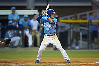 Mikey Filia (29) of the Burlington Royals at bat against the Johnson City Cardinals at Burlington Athletic Stadium on September 3, 2019 in Burlington, North Carolina. The Cardinals defeated the Royals 7-2 to even Appalachian League Championship series at one game a piece. (Brian Westerholt/Four Seam Images)