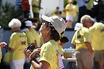 WOMEN CATCHERS WARMTH OF SUN AT SAN FELIPE'S CANCER WALK