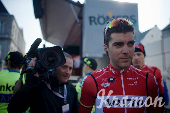 Tony Gallopin (FRA/Lotto-Soudal) at the start podium<br /> <br /> 50th Amstel Gold Race 2015