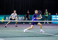 Rotterdam, The Netherlands, 9 Februari 2020, ABNAMRO World Tennis Tournament, Ahoy, Qualyfying round doubles: Griekspoor (NED) / van de Zandschulp (NED) (L)<br /> Photo: www.tennisimages.com