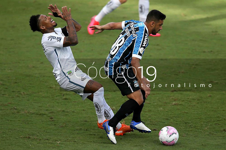 Santos (SP), 11.10.2020 - Santos-Grêmio - O jogador marinho e robinho. Partida entre Santos e Grêmio valida pela 15. rodada do Campeonato Brasileiro neste domingo (11) no estadio da Vila Belmiro em Santos.