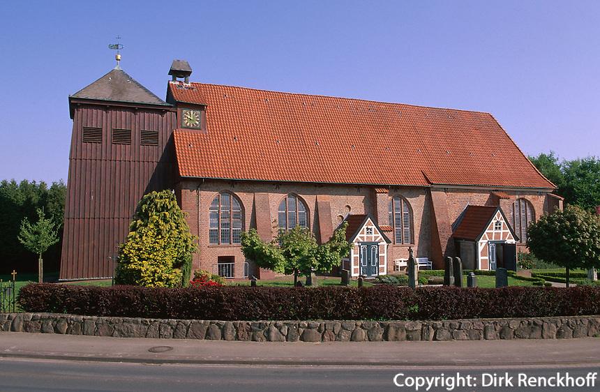 Deutschland, Niedersachsen, Altes Land, Kirche St. Bartholomaeus in Mittelnkirchen