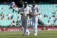 7th January 2021; Sydney Cricket Ground, Sydney, New South Wales, Australia; International Test Cricket, Third Test Day One, Australia versus India; Jasprit Bumrah of India gives advice to Mohammed Siraj of India