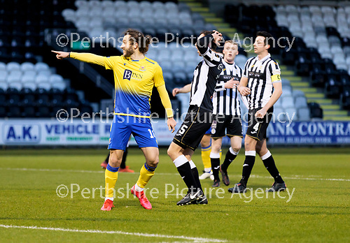 St Mirren v St Johnstone…19.12.20   St Mirren Park      SPFL<br />Stevie May celebrates his penalty<br />Picture by Graeme Hart.<br />Copyright Perthshire Picture Agency<br />Tel: 01738 623350  Mobile: 07990 594431