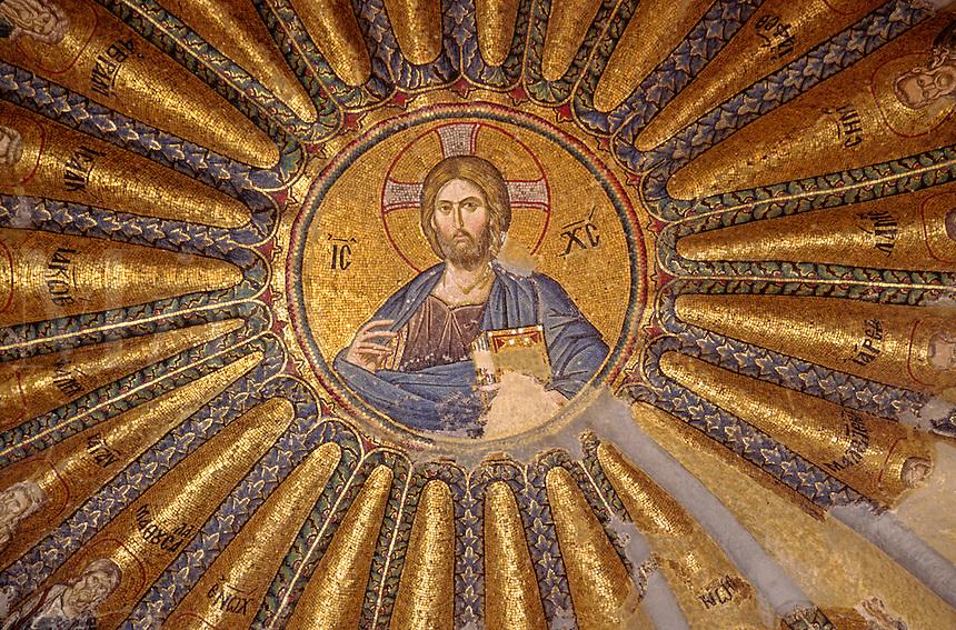 14th Century Mosaic of Jesus & his Ancesters on the ceiling of KARIYE CAMII -  world's finest Byzantine art - Istanbul, Turkey