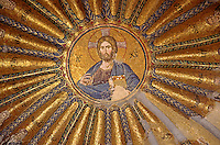 14th Century Mosaic of Jesus & his Ancesters on the ceiling of KARIYE CAMII -  world's finest Byzantine art - Istanbul, Turkey