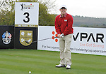 Wale's Captain Rob Brydon Hits a tee shot off the 3rd..Celebrity Cup at Golf Live  - Day 2 - Celtic Manor Resort - Saturday 11th  May  2013 - Newport ..© www.sportingwales.com- PLEASE CREDIT IAN COOK