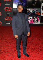 """John Boyega at the world premiere for """"Star Wars: The Last Jedi"""" at the Shrine Auditorium. Los Angeles, USA 09 December  2017<br /> Picture: Paul Smith/Featureflash/SilverHub 0208 004 5359 sales@silverhubmedia.com"""