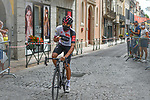 Masked Egan Bernal (COL) Team Ineos makes his way to sign on before Stage 2 of the Route d'Occitanie 2020, running 174.5km from Carcassone to Cap Découverte, France. 2nd August 2020. <br /> Picture: Colin Flockton | Cyclefile<br /> <br /> All photos usage must carry mandatory copyright credit (© Cyclefile | Colin Flockton)