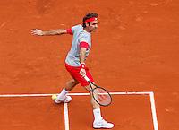 France, Paris, 25.05.2014. Tennis, Roland Garros, Roger Federer ( SUI) <br /> Photo:Tennisimages/Henk Koster