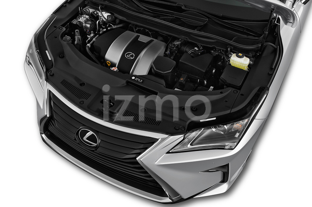 Car Stock 2019 Lexus RX 350L-4x2 5 Door SUV Engine  high angle detail view