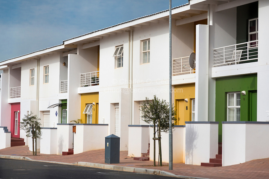 South Africa, Cape Town.  Newly-constructed Private Homes, District Six.