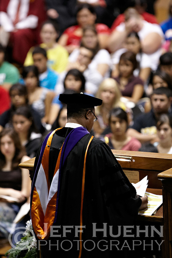 SAN ANTONIO, TX - AUGUST 18, 2008: The St. Mary's University 2008-09 school year begins with the Convocation Ceremony held in the Bill Greehey Arena. (Photo by Jeff Huehn)