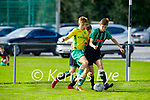 James Jones of Kerry tries to slip past Eoin Cunningham of  Limerick County in the 2021 Kennedy Cup