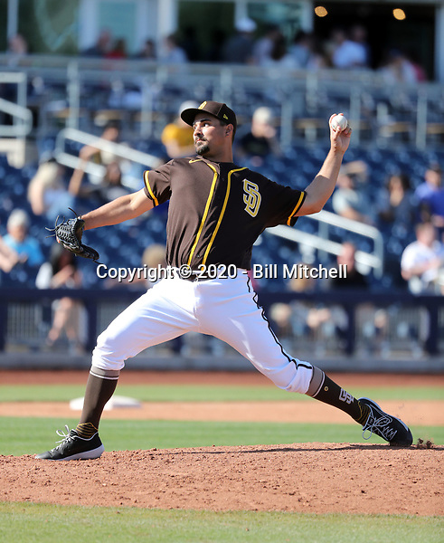Travis Radke - San Diego Padres 2020 spring training (Bill Mitchell)