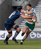 21st March 2021; AJ Bell Stadium, Salford, Lancashire, England; English Premiership Rugby, Sale Sharks versus London Irish; Josh Beaumont of Sale Sharks makes a tackle