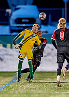 13 November 2019: University of Vermont Catamount Midfielder Joe Morrison, a Sophomore from Foxboro, MA, in action against the University of Hartford Hawks at Virtue Field in Burlington, Vermont. The Catamounts fell to the visiting Hawks 3-2 in sudden death overtime of the Division 1 Men's Soccer America East matchup. Mandatory Credit: Ed Wolfstein Photo *** RAW (NEF) Image File Available ***