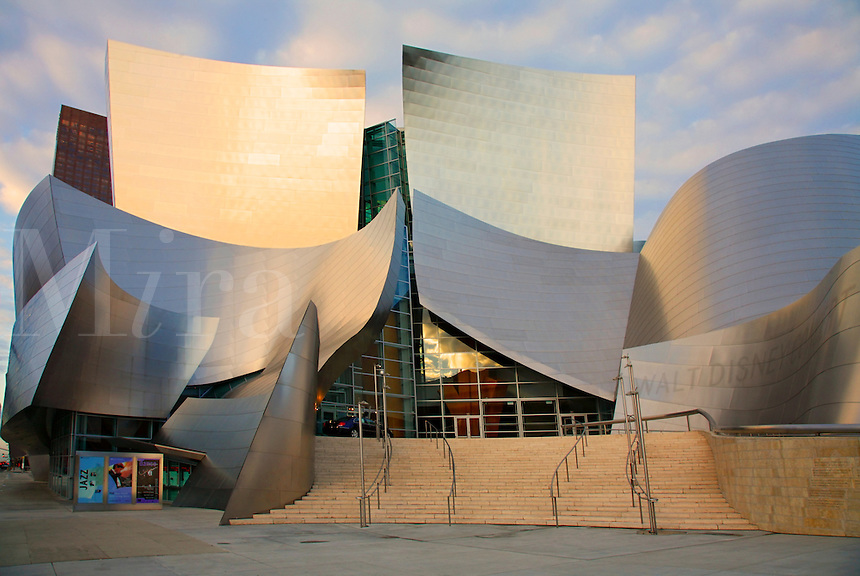 Walt Disney Concert Hall in downtown Los Angeles, California