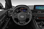 Car pictures of steering wheel view of a 2019 Toyota GR-Supra Sport 2 Door Coupe