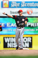Richmond Flying Squirrels infielder Joe Panik (13) during game against the Trenton Thunder at ARM & HAMMER Park on June 9 2013 in Trenton, NJ.  Trenton defeated Richmond 3-2.  Tomasso DeRosa/Four Seam Images
