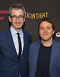 Daniel Aukin and Joshua Harmon during the Off-Broadway Opening Night photo call for the Roundabout Theatre Production of 'Skintight at the Laura Pels Theatre on June 21, 2018 in New York City.