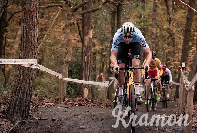Vincent Baestaens (BEL/Hens-Maes)<br /> <br /> UEC Cyclocross European Championships 2020 - 's-Hertogenbosch (NED)<br /> <br /> Elite MEN<br /> <br /> ©kramon
