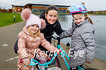 Enjoying a stroll and a cycle in the Tralee Bay Wetlands on Monday, l to r: Saoirse O'Brien, Marie Corbett O'Brien and Clara O'Brien