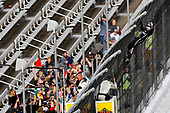 NASCAR Camping World Truck Series <br /> Texas Roadhouse 200<br /> Martinsville Speedway, Martinsville VA USA<br /> Saturday 28 October 2017<br /> Noah Gragson, Switch Toyota Tundra celebrates his win<br /> World Copyright: Nigel Kinrade<br /> LAT Images