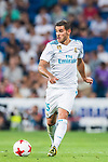 Theo Hernandez of Real Madrid in action during the Santiago Bernabeu Trophy 2017 match between Real Madrid and ACF Fiorentina at the Santiago Bernabeu Stadium on 23 August 2017 in Madrid, Spain. Photo by Diego Gonzalez / Power Sport Images