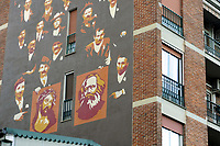 - Milano, quartiere Ortica, dipinto murale storico, Gesù Cristo e Carlo Marx<br /> <br /> - Milan, Ortica district, historical wall painting, Jesus Christ and Karl Marx
