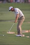 Padraig Harrington takes his putt on the 18th green during  Day 2 at the Dubai World Championship Golf in Jumeirah, Earth Course, Golf Estates, Dubai  UAE, 20th November 2009 (Photo by Eoin Clarke/GOLFFILE)