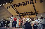 Art Blakey, Aug 1982 : Art Blakey performing at The Jazz Messengers, Beppu, Oita, Japan.