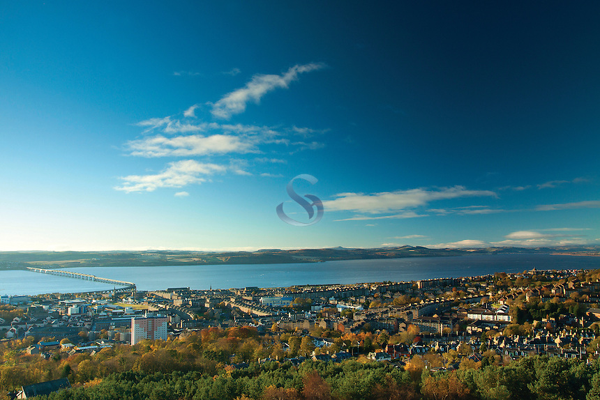 Dundee and the River Tay from Dundee Law, Tayside