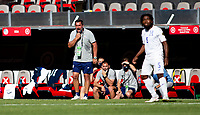 GUADALAJARA, MEXICO - MARCH 28: Jeff Cassar U-23 MNT assistant coach yelling out instructions to his squad during a game between Honduras and USMNT U-23 at Estadio Jalisco on March 28, 2021 in Guadalajara, Mexico.