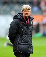 Coach Pia Sundhage of team USA during the FIFA Women's World Cup at the FIFA Stadium in Moenchengladbach, Germany on July 13th, 2011.