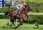August 6, 2021: Public Sector (GB) #2, ridden by jockey Flavien Prat wins the National Museum of Racing Hall of Fame Stakes (Grade 2) at Saratoga Race Course in Saratoga Springs, NY on August 6, 2021. Rob Simmons/Eclipse Sportswire/CSM