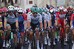 Maciej Bodnar (POL) leads Bora-Hansgrohe during the 112th edition of Milan-San Remo 2021, running 299km from Milan to San Remo, Italy. 20th March 2021. <br /> Photo: Bora-Hansgrohe/Luca Bettini/BettiniPhoto | Cyclefile<br /> <br /> All photos usage must carry mandatory copyright credit (© Cyclefile | Luca Bettini/BettiniPhoto/Bora-Hansgrohe)