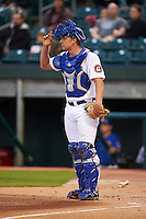 Chattanooga Lookouts catcher Stuart Turner (30) during a game against the Jacksonville Suns on April 30, 2015 at AT&T Field in Chattanooga, Tennessee.  Jacksonville defeated Chattanooga 6-4.  (Mike Janes/Four Seam Images)