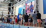 Swimmers and Coaches await the Covid level announcement after a community case was discovered in Auckland. Apollo Projects NZ Short Course Championships, Millennium Institute, Auckland, New Zealand. Tuesday 17 August 2021 Photo: Simon Watts/www.bwmedia.co.nz