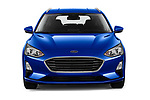 Car photography straight front view of a 2018 Ford Focus Clipper Titanium Business 5 Door Wagon
