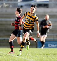 Monday 27th February 2017 | ULSTER SCHOOLS CUP SEMI-FINAL<br /> <br /> Zak Davidson scores during the Ulster Schools Cup Semi-Final between RBAI and Ballymena Academy  at Kingspan Stadium, Ravenhill Park, Belfast, Northern Ireland. <br /> <br /> Photograph by John Dickson | www.dicksondigital.com