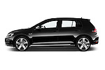 Car Driver side profile view of a 2014 Volkswagen Golf R 5 Door Hatchback 4WD Side View