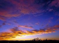 Sunset and clouds, on Ektachrome Elite EB100.