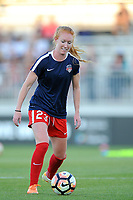 Boyds, MD - Saturday September 23, 2017: Tori Huster prior to a regular season National Women's Soccer League (NWSL) match between the Washington Spirit and the Boston Breakers at Maureen Hendricks Field, Maryland SoccerPlex.