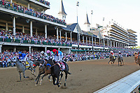 1st May 2021; Kentucky, USA;  Medina Spirit (8) ridden by jockey John Velazquez wins the 147th Running of the Kentucky Derby on May 1, 2021 at Churchill Downs in Louisville, Kentucky.