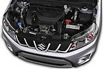 Car stock 2018 Suzuki Vitara GLX  S 5 Door SUV engine high angle detail view