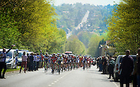 peloton over the typical hilly slopes the Brabant province has to offer<br /> <br /> Brabantse Pijl 2014