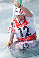02 AUG 2012 - CHESHUNT, GBR - Maria-Clara Giai-Pron (ITA) of Italy makes her semi final run during the women's Kayak Single (K1) during the London 2012 Olympic Games event at Lee Valley White Water Centre, Cheshunt, Great Britain (PHOTO (C) 2012 NIGEL FARROW)